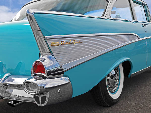Photograph - 1957 Chevrolet Bel Air by Gill Billington
