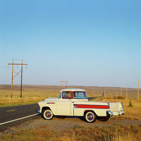 Car Part Photograph - 1957 Chevrolet Cameo Pick Up Truck On by Car Culture