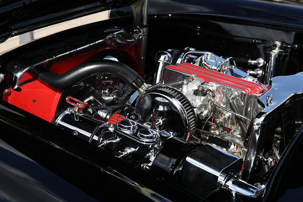 Photograph - 1957 Chevrolet Corvette Engine by Debi Dalio