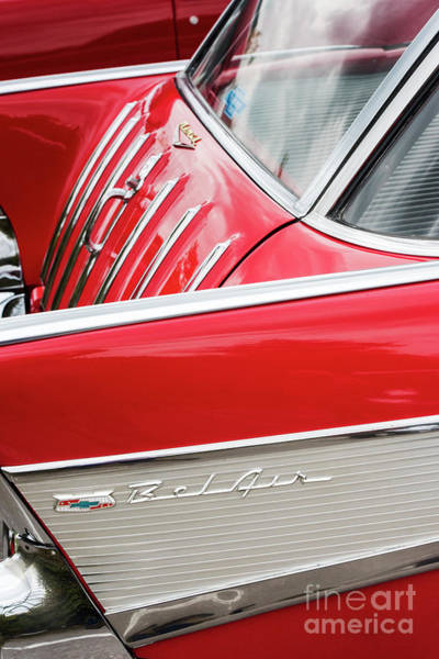 Nomad Photograph - 1957 Chevrolet Nomad Tailgate Abstract by Tim Gainey