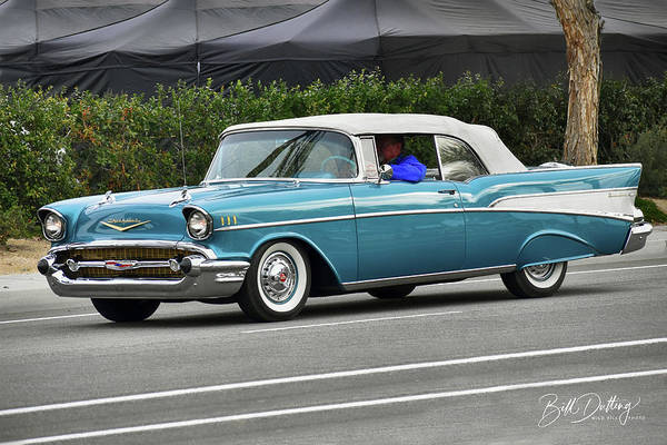 Photograph - 1957 Chevy Convertible by Bill Dutting