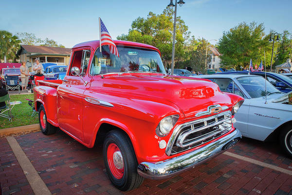 Wall Art - Photograph - 1957 Chevy Pick Up Truck 3100 Series 110 by Rich Franco