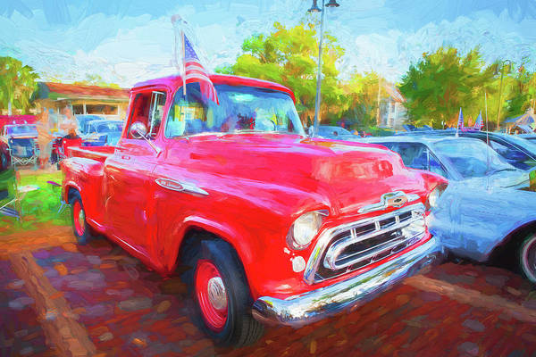 Wall Art - Photograph - 1957 Chevy Pick Up Truck 3100 Series 111 by Rich Franco