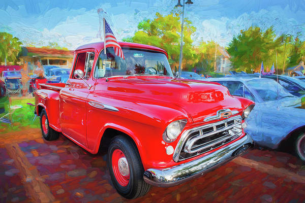 Wall Art - Photograph - 1957 Chevy Pick Up Truck 3100 Series 113 by Rich Franco