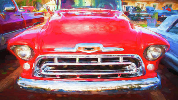Wall Art - Photograph - 1957 Chevy Pick Up Truck 3100 Series 115 by Rich Franco