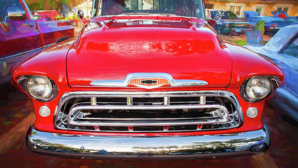 Wall Art - Photograph - 1957 Chevy Pick Up Truck 3100 Series 116 by Rich Franco
