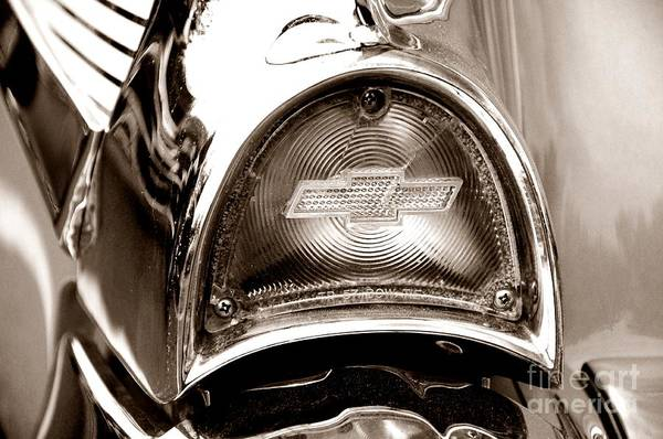 Wall Art - Photograph - 1957 Chevy Tail Light Bowtie Retro by Paul Ward