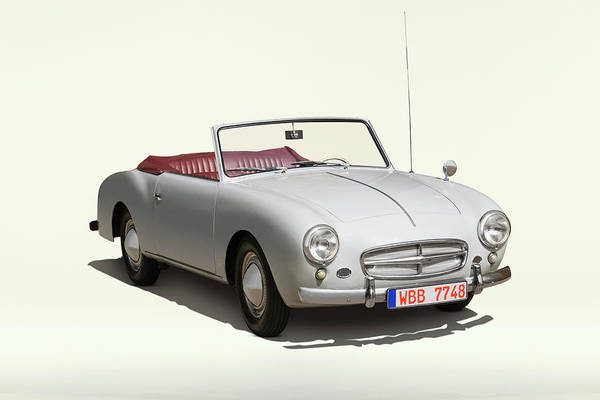 Customized Photograph - 1957 Volkswagen Beetle Cabriolet With by Car Culture