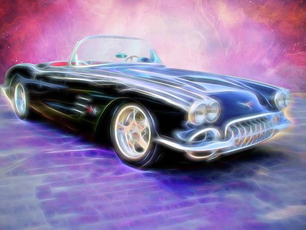 Digital Art - 1958 Chevrolet Corvette by Rick Wicker