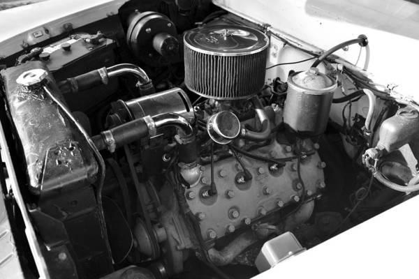 V8 Engine Photograph - 1958 Flathead Merc V8 by David Lee Thompson