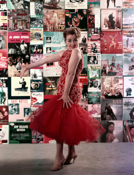 Red Dress Photograph - 1958. Woman Wearing Red Dress, Party by Popperfoto