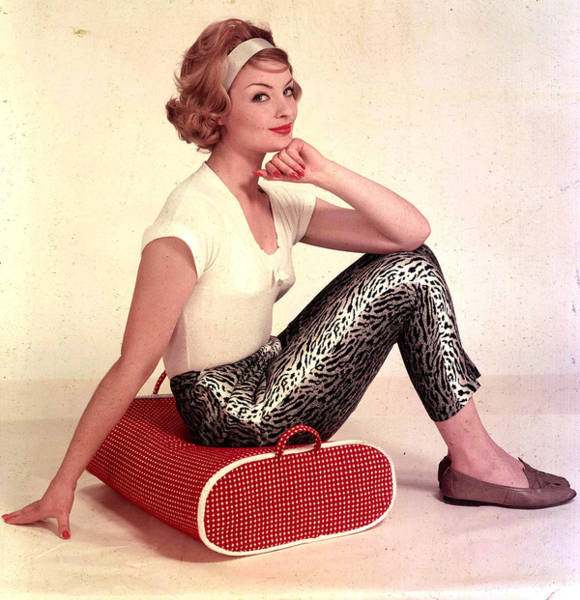 Cushion Photograph - 1959. A Portrait Of A Woman Sitting On by Popperfoto