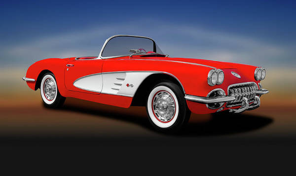 Wall Art - Photograph - 1959 C1 Chevrolet Corvette Convertible  -  1959c1chevroletcorvetteconvertible196674 by Frank J Benz