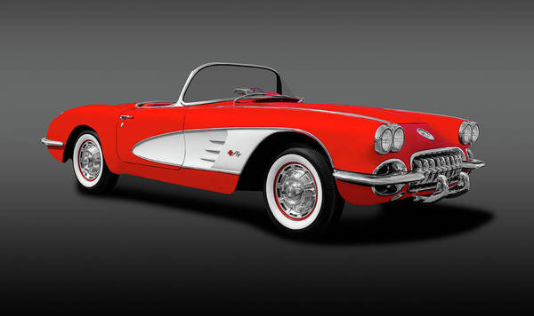 Wall Art - Photograph - 1959 C1 Chevrolet Corvette Convertible  -  1959c1chevycorvetteconvertgray196674 by Frank J Benz