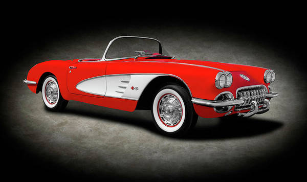Wall Art - Photograph - 1959 C1 Chevrolet Corvette Convertible  -  1959c1chevyvetteconverttexture196674 by Frank J Benz