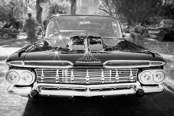 Wall Art - Photograph - 1959 Chevrolet Biscayne Painted Bw 003   by Rich Franco