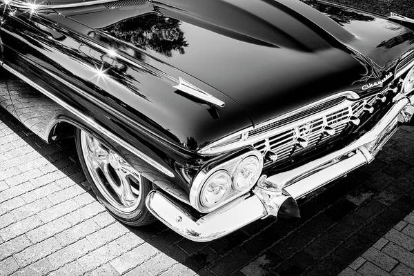 Wall Art - Photograph - 1959 Chevrolet Biscayne Painted Bw 005  Black by Rich Franco