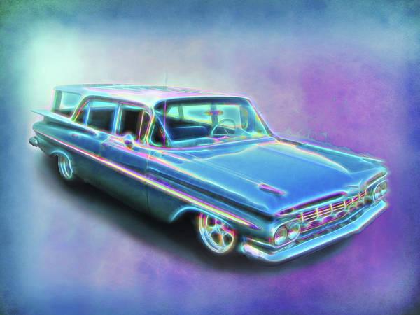 Digital Art - 1959 Chevy Wagon by Rick Wicker