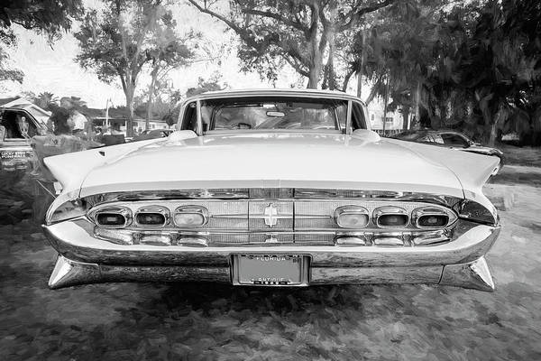 Wall Art - Photograph - 1959 Lincoln Continental Town Car Mk Iv Bw 133 by Rich Franco