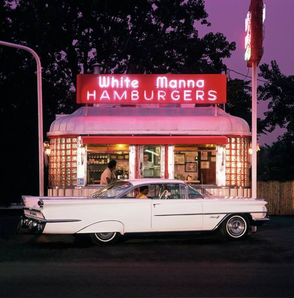 Neon Pink Photograph - 1959 Oldsmobile Super 88 Holiday Sceni by Car Culture