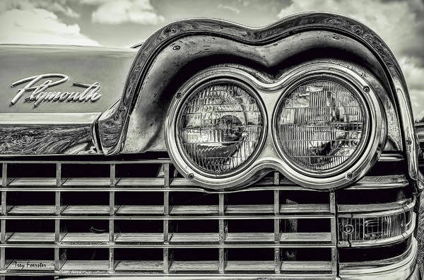 Wall Art - Photograph - 1959 Plymouth Sport Fury Bw by Trey Foerster