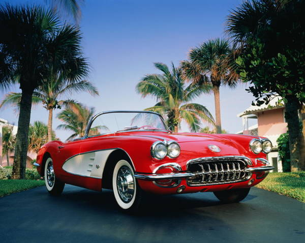 Object Photograph - 1960 Red And White Chevrolet Corvette by Peter Langone