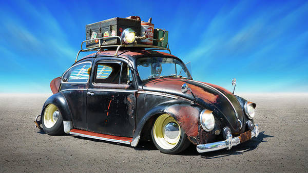 Wall Art - Photograph - 1960 V W Bug Rat Rod by Mike McGlothlen