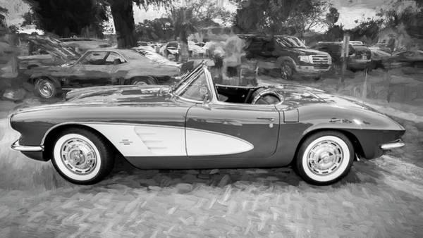 Photograph - 1961 Chevrolet Corvette Convertible 002 by Rich Franco