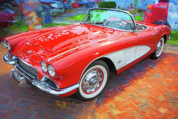 Photograph - 1961 Chevrolet Corvette Convertible 004 by Rich Franco