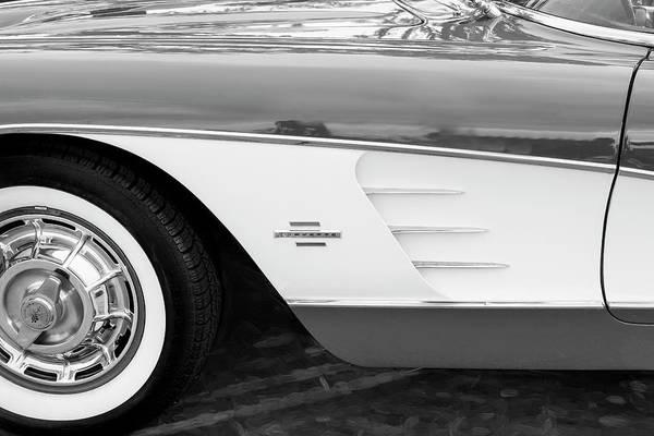 Photograph - 1961 Chevrolet Corvette Convertible 006 by Rich Franco