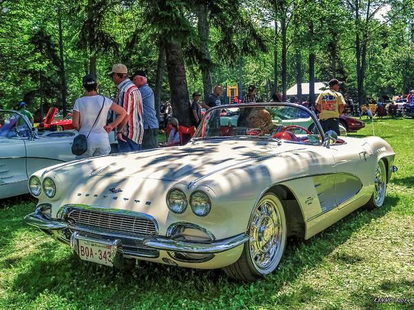 Digital Art - 1961 Chevrolet Corvette 002 by Ken Morris
