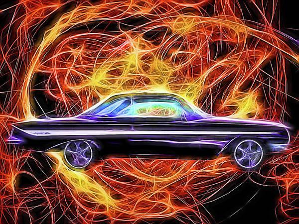 Digital Art - 1961 Chevy Impala by Rick Wicker