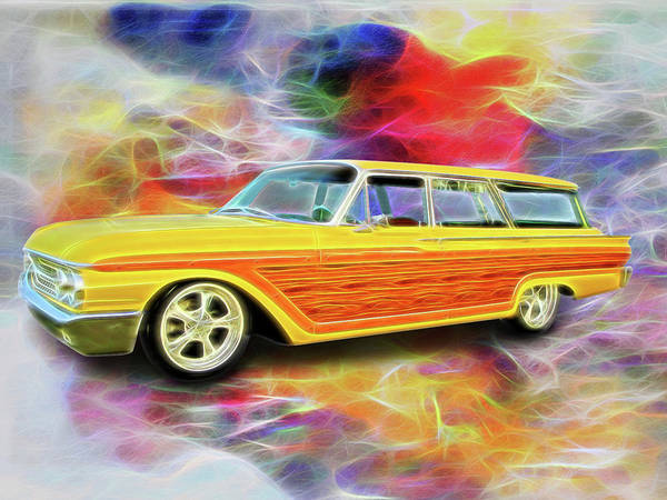 Digital Art - 1961 Ford Wagon by Rick Wicker