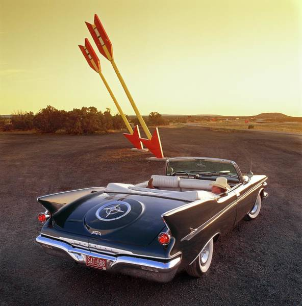 1961 Photograph - 1961 Imperial Crown Convertible At Twin by Car Culture