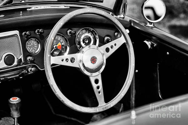Photograph - 1961 Mg Mga Mk2 Interior  by Tim Gainey