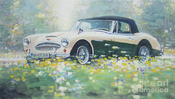 Wall Art - Painting -  1967 Austin Healey 3000 Mk I I I B J 8 by Yuriy Shevchuk