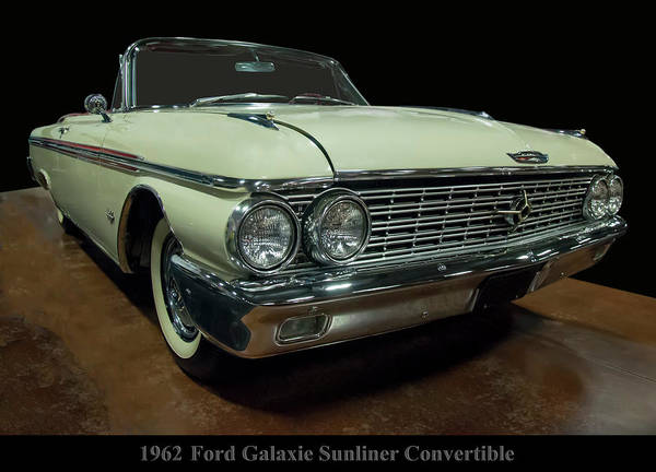 Photograph - 1962 Ford Galaxie Sunliner Convertible by Chris Flees