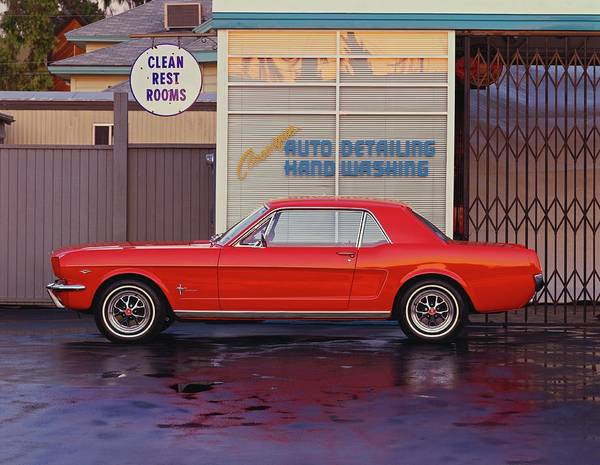 Sport Car Photograph - 1964 12 Ford Mustang Coupe At Billys by Car Culture