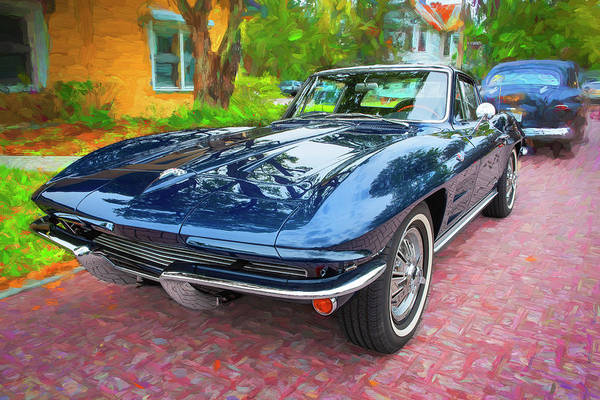 Wall Art - Photograph - 1964 Chevy Corvette Coupe 105  by Rich Franco
