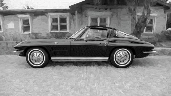 Wall Art - Photograph - 1964 Chevy Corvette Coupe Bw 107 by Rich Franco