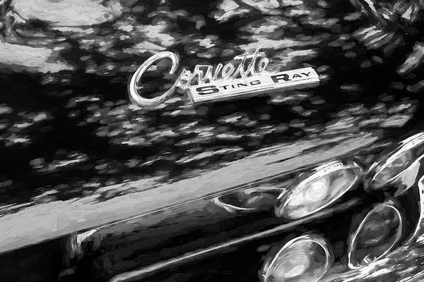 Wall Art - Photograph - 1964 Chevy Corvette Coupe Bw 110 by Rich Franco
