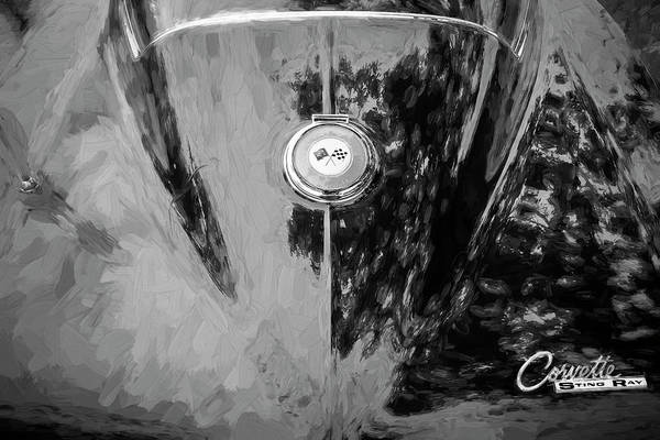 Wall Art - Photograph - 1964 Chevy Corvette Coupe Bw 116 by Rich Franco
