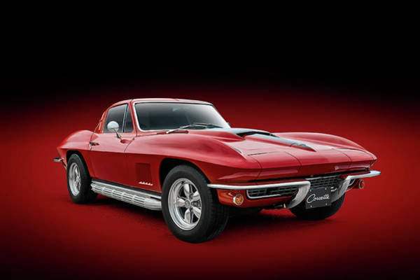 Wall Art - Digital Art - 1964 Red Corvette Sting Ray by Douglas Pittman