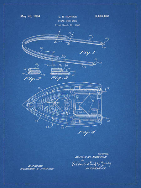 Dirty Drawing - 1964 Steam Iron Patent by Dan Sproul