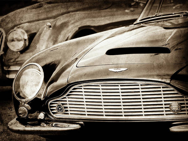 Wall Art - Photograph - 1965 Aston Martin Db6 Short Chassis Volante Grille-0970scl by Jill Reger