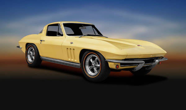 Wall Art - Photograph - 1965 C2 Chevrolet Corvette Stingray  -  1965c2chevycorvettestingraycoupe196609 by Frank J Benz
