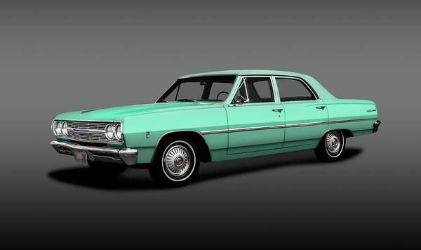 Wall Art - Photograph - 1965 Chevrolet Malibu Four Door Sedan  -  1965chevymalibu4doorsedangray196822 by Frank J Benz