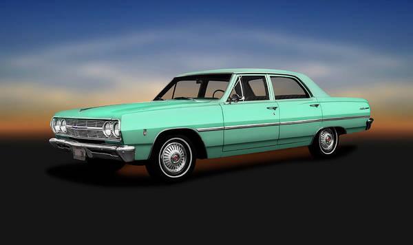 Wall Art - Photograph - 1965 Chevrolet Malibu Four Door Sedan  -  1965chevymalibufourdoorsedan196822 by Frank J Benz