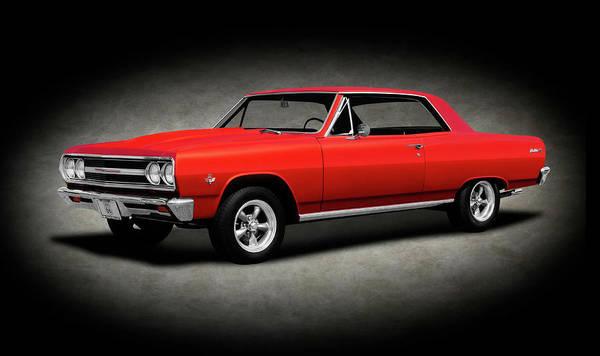 Wall Art - Photograph - 1965 Chevrolet Malibu Super Sport  -  1965chevroletmalibusscoupetexture196628 by Frank J Benz