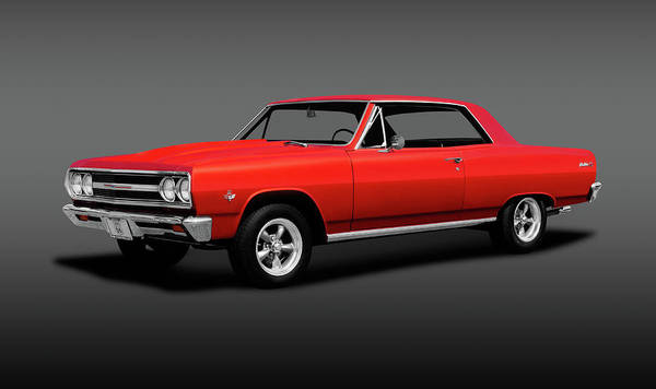 Wall Art - Photograph - 1965 Chevrolet Malibu Super Sport  -  1965chevymalibusupersportgray196628 by Frank J Benz